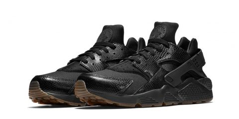 nike-air-huarache-noir-peau-serpent-1